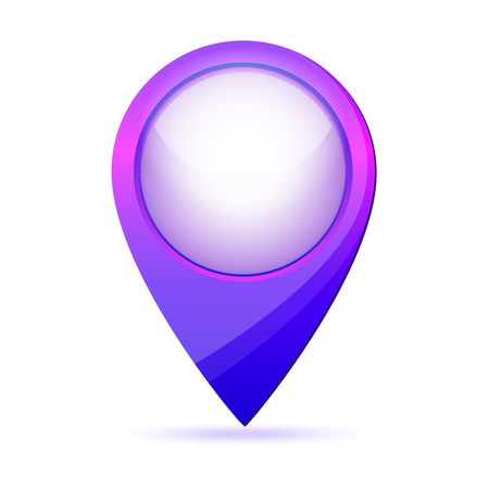 Map point icon. Vector illustration. Color location marker isolated