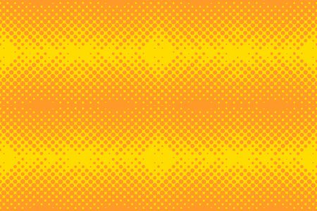 Yellow Halftone background. Vector pop art background. Color dotted background.