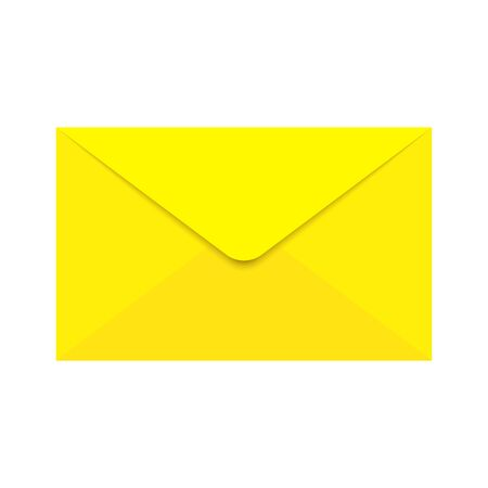 Envelope icon - vector. Yellow envelope isolated. Email symbol in flat style. Vector icon Stock Vector - 132763393