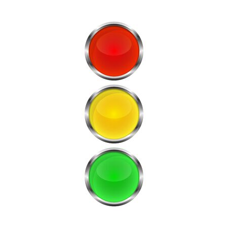 Traffic light icon - vector. Traffic light icon isolated. Shiny traffic light icon. Banque d'images - 132870788