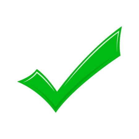 Check mark icon - vector. Approved icon isolated. Conceptual vector icon