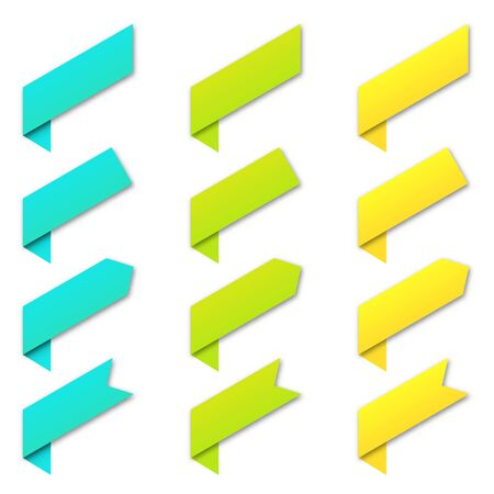 Set of vector paper banners. Colored elements of infographic design. Vector infographic elements isolated