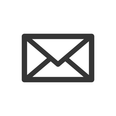 Envelope vector icon. Black envelope isolated. Email symbol in flat style. Vector icon