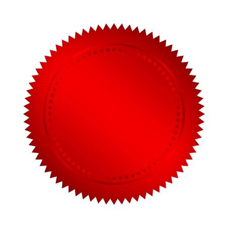 Red medal icon - vector illustration. Blank red label. Red empty medal isolated Illusztráció
