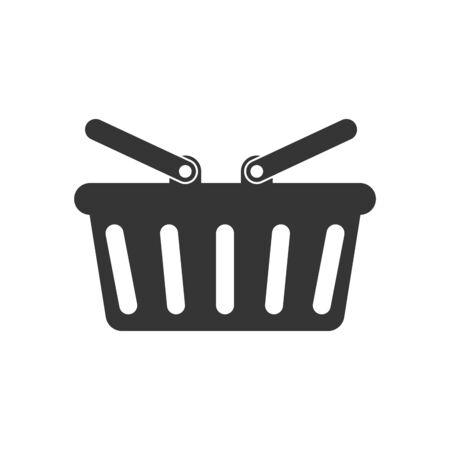Shopping basket icon - vector. Black Shopping basket icon. Shopping basket in flat style, isolated.