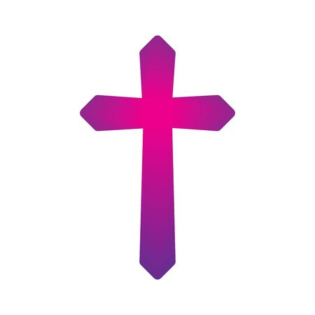 Christian Cross icon. Church cross isolated. Abstract religion vector symbol
