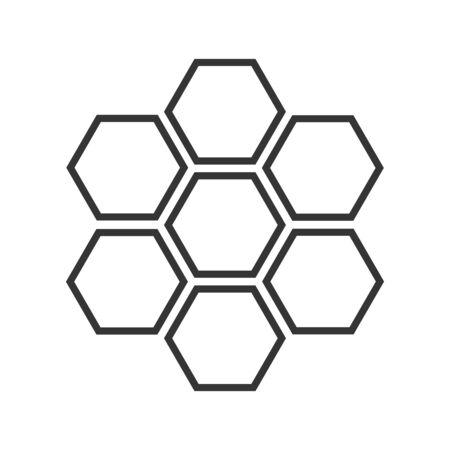 Ikona o strukturze plastra miodu - wektor. Sześciokątne plastry miodu pszczelego. Czarna ikona o strukturze plastra miodu w płaski.
