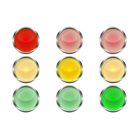 Traffic light icon - vector. Traffic light icon isolated. Shiny traffic light icon. Banque d'images - 133121649