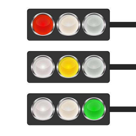 Traffic light icon - vector. Traffic light icon isolated. Shiny traffic light icon. Banque d'images - 133121867