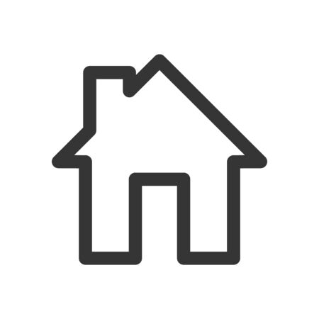 House icon - vector. Black home icon. Building icon in flat style, isolated.