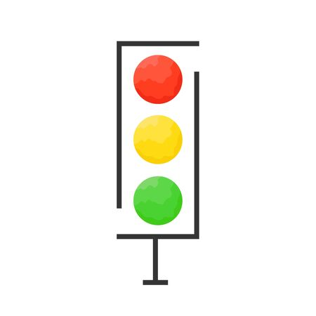 Traffic light icon - vector. Traffic light icon isolated. Traffic light icon in flat style. Vector traffic light Banque d'images - 133121605