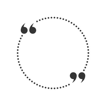 Circle Quote box. Vector Speech bubble. Blank frame for citations. Quotation mark speech bubble. Ilustracja
