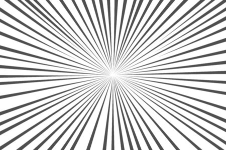 Black and white sunbeams background. Sunburst pattern. Vector sun rays background