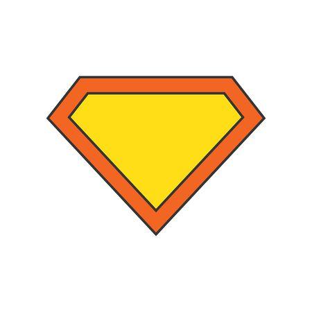 Vector Diamond icon. Color diamond icon isolated. Diamond in flat style. Brilliant, crystal Ilustracja