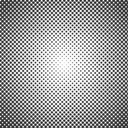 Vector halftone effect background. Black dotted background. Vector grunge halftone dot texture background. Retro pop art background
