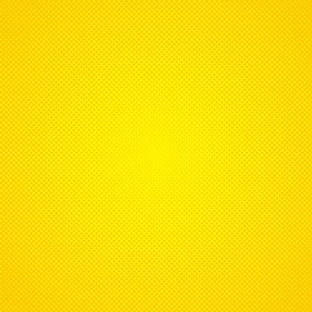 Vector halftone effect background. Yellow dotted background. Vector grunge halftone dot texture background. Retro pop art background Vektorové ilustrace