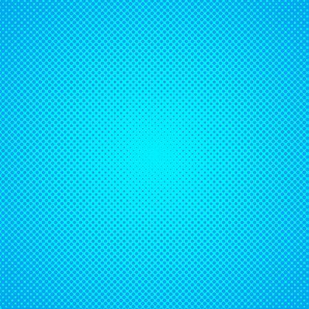 Vector halftone effect background. Blue dotted background. Retro pop art background. Vector grunge halftone dot texture background. Illusztráció