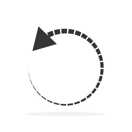 Circle arrow. Reload arrow icon isolated. Black refresh vector arrow. Circle arrow for infographic
