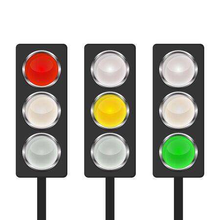 Icono de semáforo - vector. Icono de semáforo aislado. Icono de semáforo brillante.