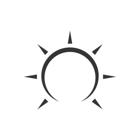 Sun icon - vector. Black vector sun. Flat sun icon isolated. Reklamní fotografie - 133659748