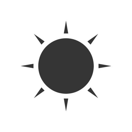 Sun icon - vector. Black vector sun. Flat sun icon isolated. Ilustrace