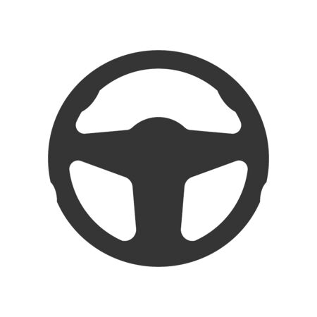 Steering wheel icon - vector. Car Steering wheel in flat style. Steering wheel isolated. Banco de Imagens - 133660066