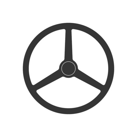Steering wheel icon - vector. Car Steering wheel in flat style. Steering wheel isolated. Banco de Imagens - 133660065