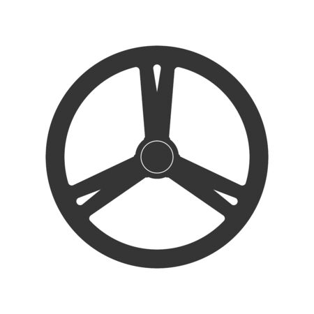 Steering wheel icon - vector. Car Steering wheel in flat style. Steering wheel isolated. Banco de Imagens - 133660067