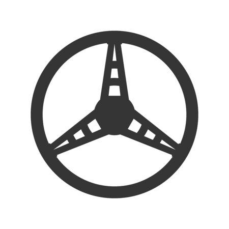 Steering wheel icon - vector. Car Steering wheel in flat style. Steering wheel isolated. Banco de Imagens - 133660069