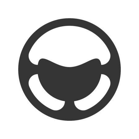 Steering wheel icon - vector. Car Steering wheel in flat style. Steering wheel isolated. Banco de Imagens - 133660070