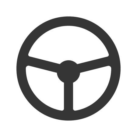 Steering wheel icon - vector. Car Steering wheel in flat style. Steering wheel isolated. Banco de Imagens - 133660074