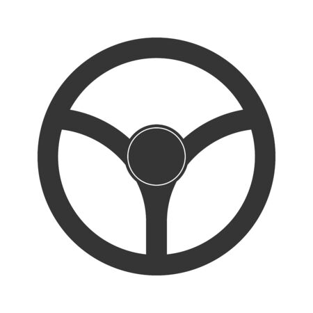 Steering wheel icon - vector. Car Steering wheel in flat style. Steering wheel isolated. Banco de Imagens - 133660071
