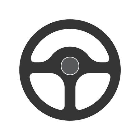 Steering wheel icon - vector. Car Steering wheel in flat style. Steering wheel isolated. Banco de Imagens - 133660072