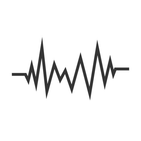 Heartbeat icon isolated. Black vector Pulse icon. Flat medical symbol.