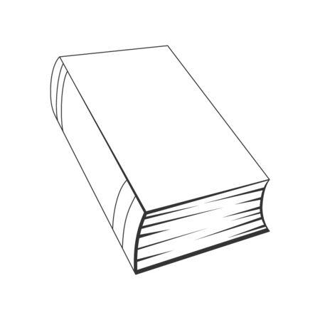 Book vector icon. Book icon on a white background. Black book in flat style Illusztráció