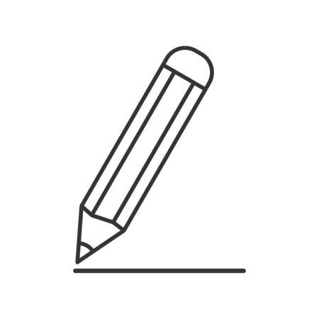 Pencil icon - vector. Black pencil icon. Pencil icon in flat design, isolated.