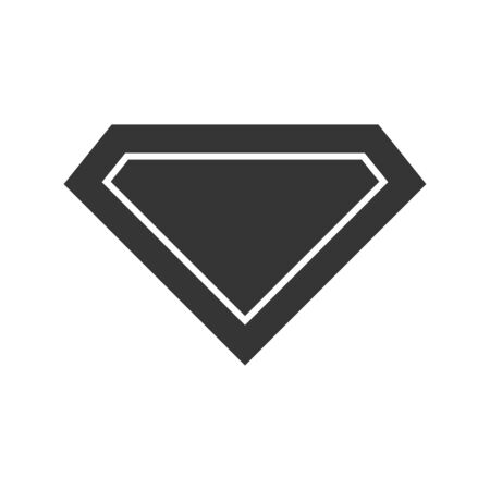 Vector diamond icon. Black diamond icon isolated. Vector illustration in flat style. Crystal or brilliant icon