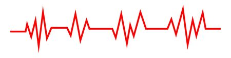 Heartbeat line icon in flat style. Heartbeat wave. Pulse symbol isolated. Vector illustration. Illustration
