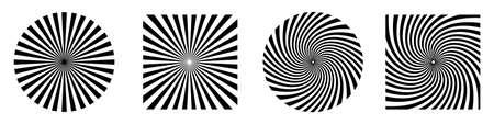 Sun rays or starburst. Abstract design elements. Starburst shape isolated. Vector illustration. Burst, beams or rays.