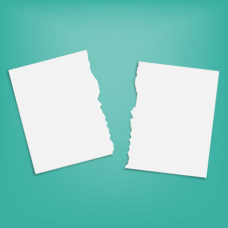 Torn square paper piece. Space for your text. Paper pieces with shadows. Vector illustration.