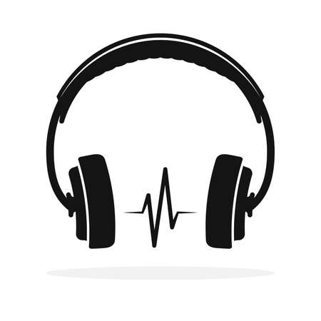 Headphones icon isolated. Vector illustration. Headphones icon in flat design 版權商用圖片 - 156067067