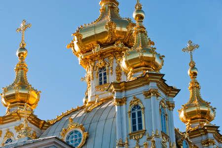 double headed eagle: Church in Peterhof, Saint Petersburg, Russia