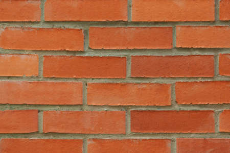 Red brick texture wall background. Horizontal photography. 스톡 콘텐츠