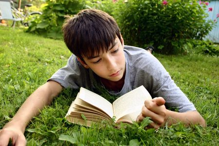 Boy and book Stock Photo - 341916
