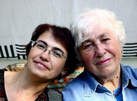 composure: Two women.