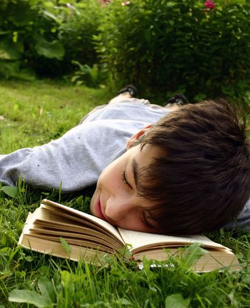 Teen with book Stock Photo - 364313