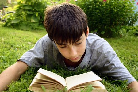 Teen with book photo