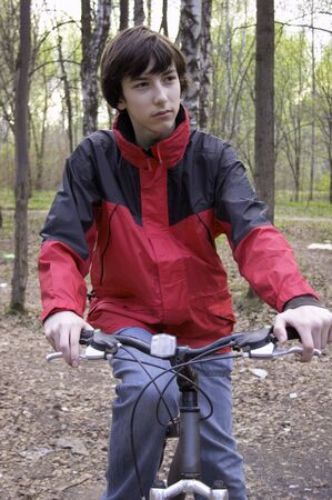 Teen with bicycles Stock Photo - 423784