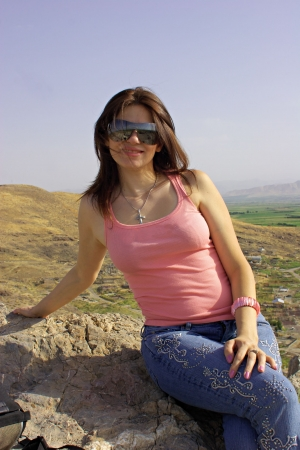 armenian woman: Portrait of the attractive Armenian girl