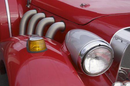 Red retro car Stock Photo - 587756